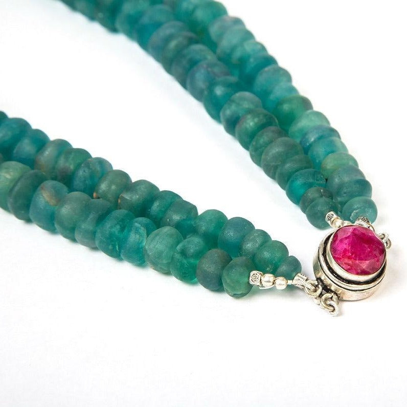 Green Fluorite gemstone beaded beauty necklace