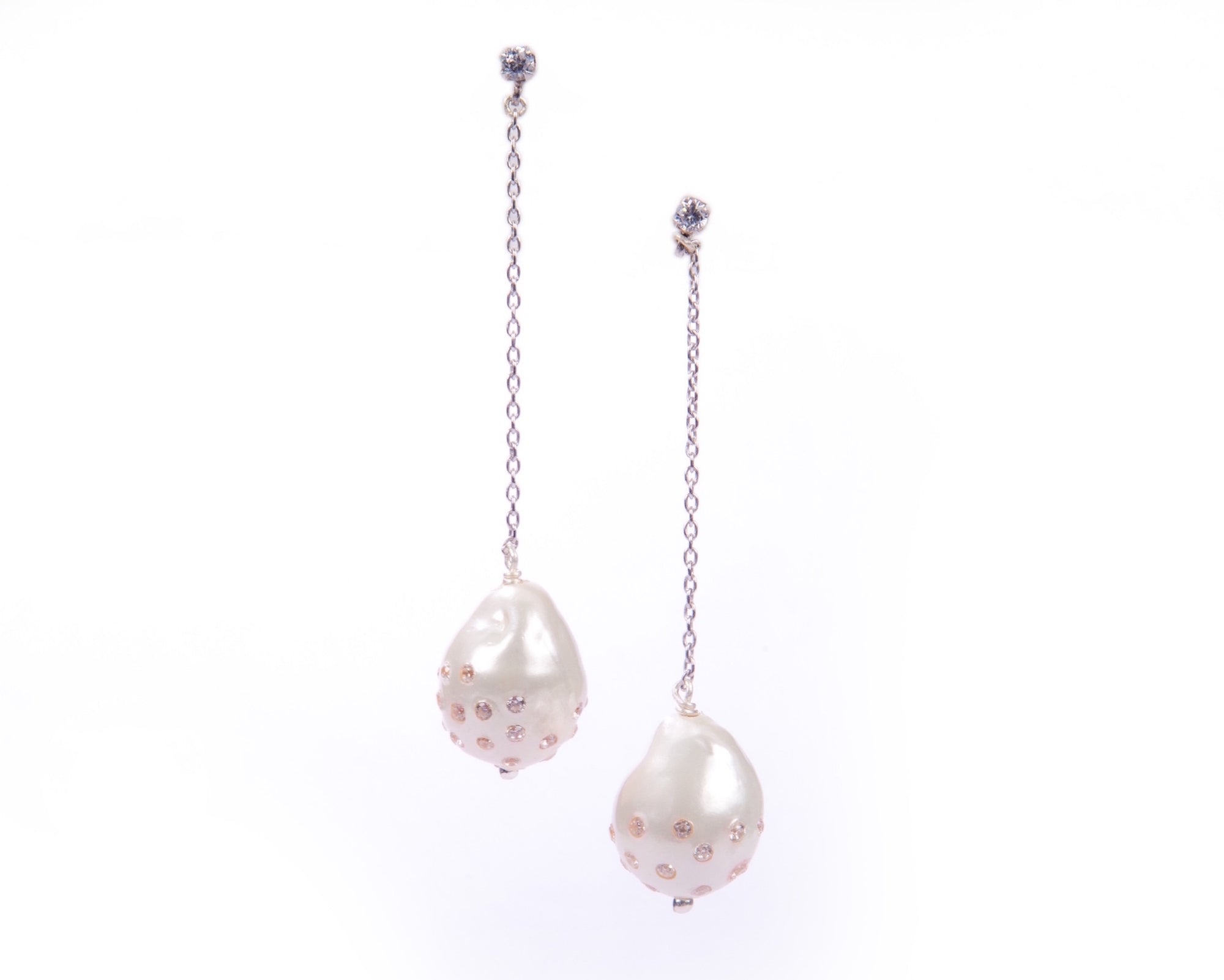 Studded baroque drops