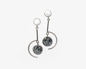 Monochrome danglers black