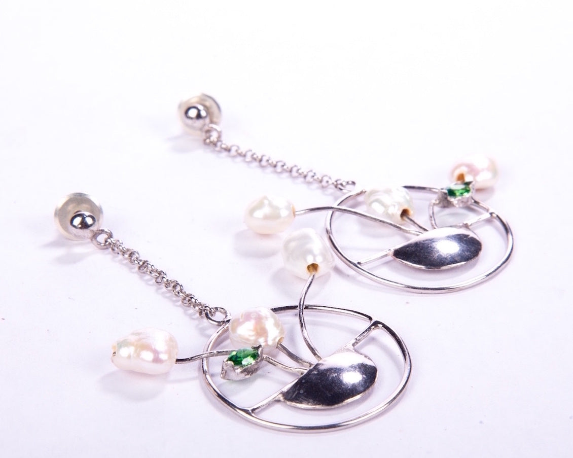 Fresh water pearl Baroque earrings