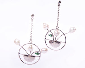 Hanging Flower Basket Baroque Blossom Danglers