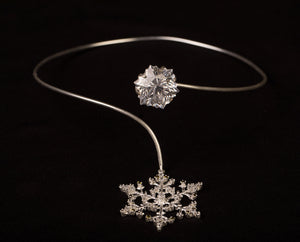 Snow crystal necklet