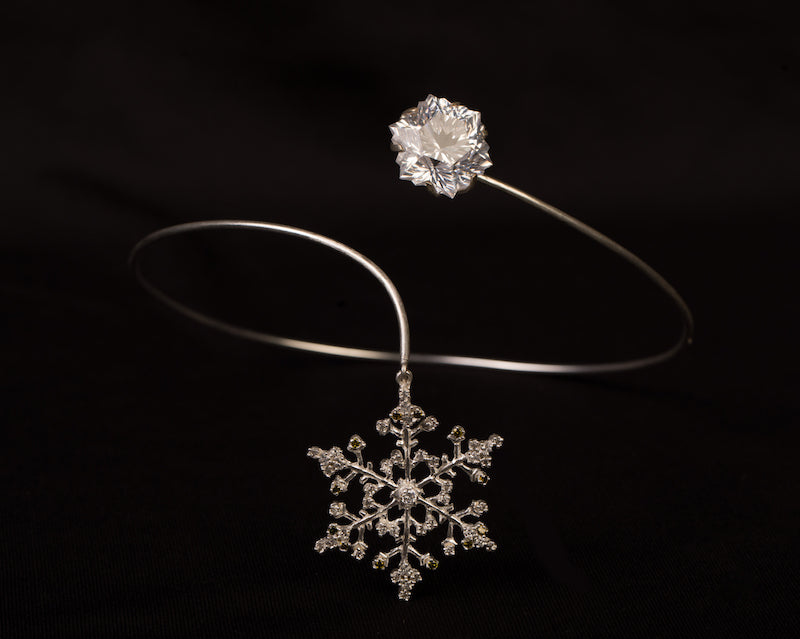 Snow flakes slip on choker