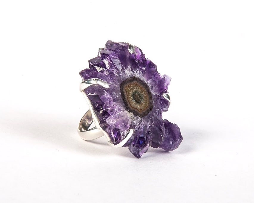 Amethyst flower ring