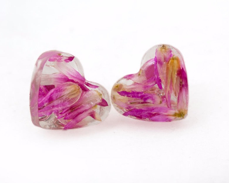 Little hearts flower studs