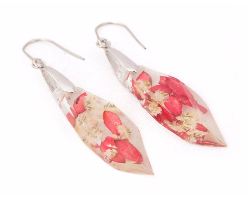 Red & white pellet shaped danglers