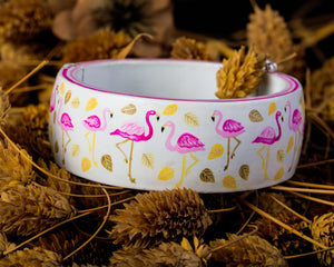 Contemporary with traditional Meenakari hand painted bangle
