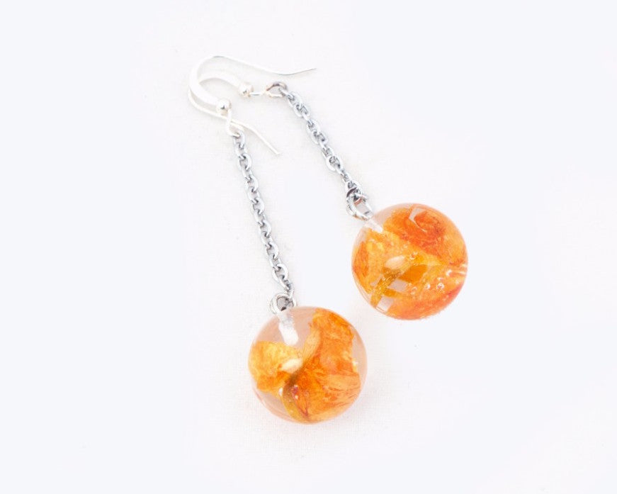 Orange & silver combo radiant sunshine drops
