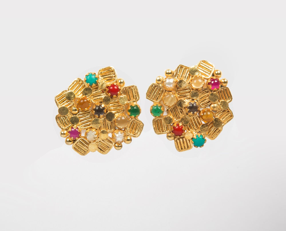 Navratan imitation earrings