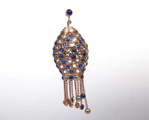 Semi-precious stones moroccan chandelier earrings