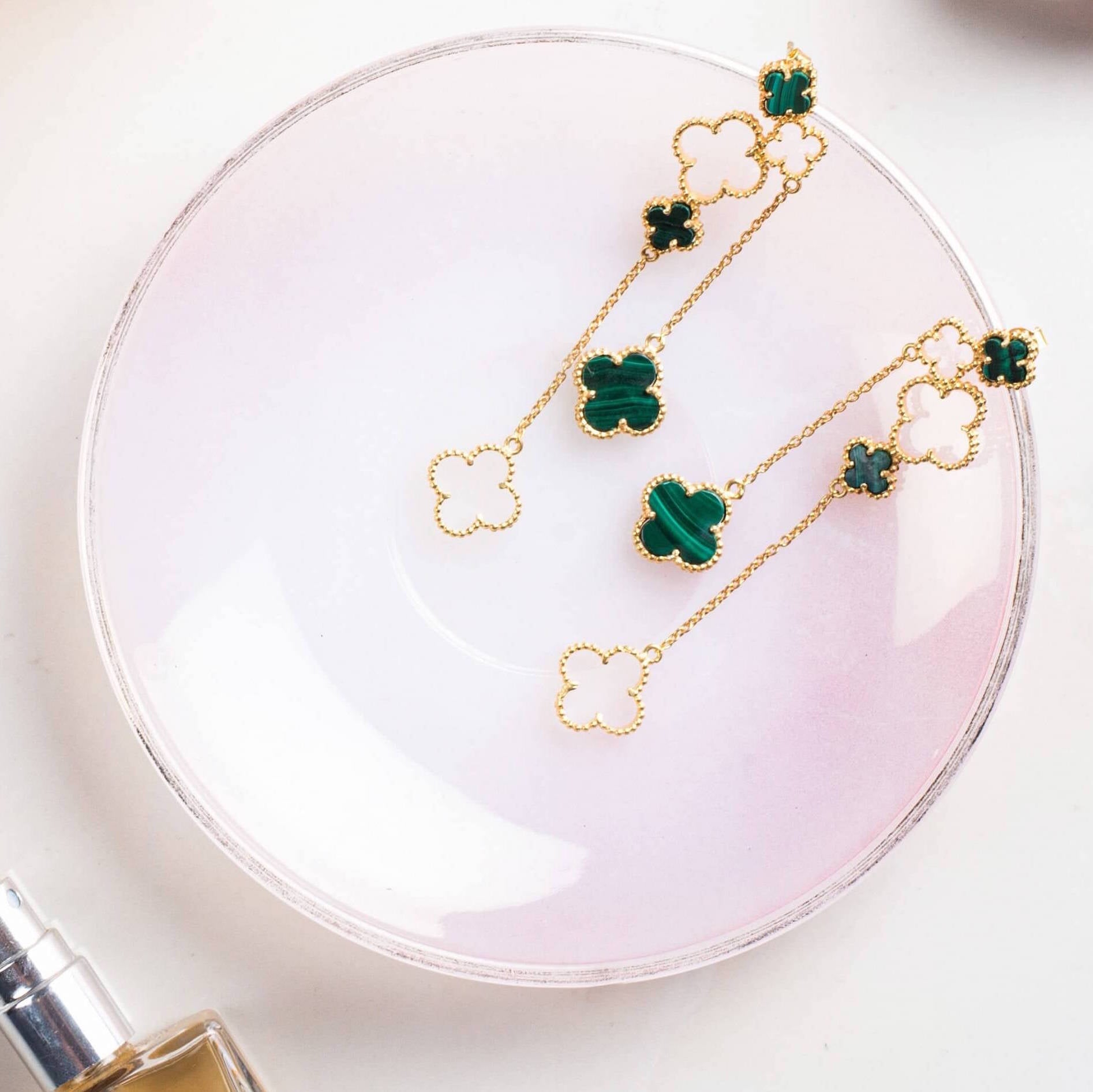 4 Leaf Clover Danglers - Gold Plated