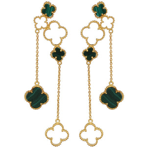 4 Leaf Clover Danglers - Gold
