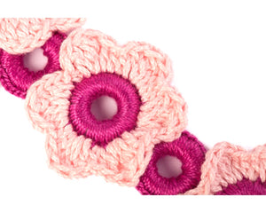 Handmade flower cotton yarn crochet