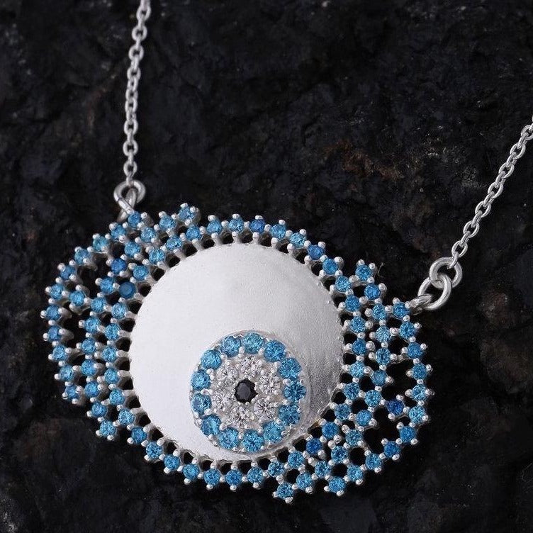 Evil eye necklace in blue