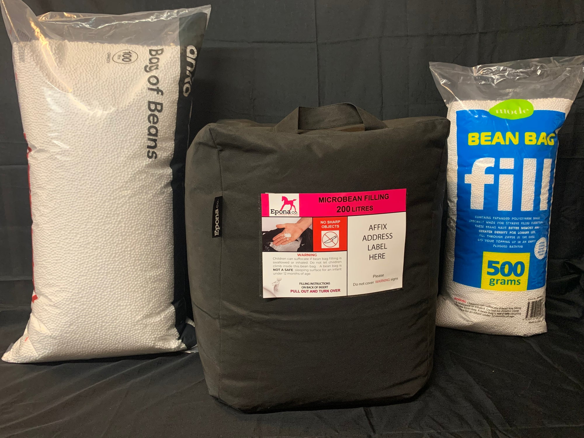 Micro bean fillings. The perfect bean fillings for your bean bags from Epona Co.