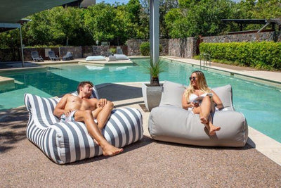 indoor outdoor bean bags, sunproof, olefin material, premium and luxury
