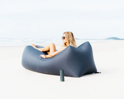 indoor outdoor bean bags, sunproof, olefin material, premium and luxury CloudSac Air Lounger Charcoal