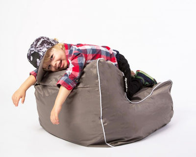 Indoor Bean Bags Kids Range Taupe premium luxury olefin material