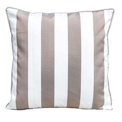Epona Co. Outdoor Cushions - Taupe Stripe indoor outdoor bean bags, sunproof, olefin material, premium and luxury