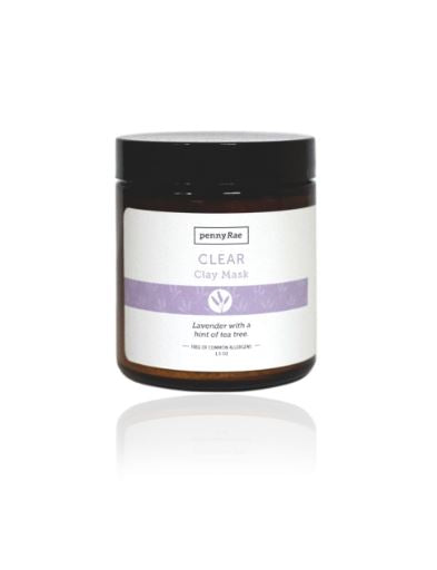 Clear French Clay Mask: Lavender w/ A Hint of Tea Tree