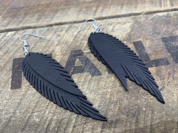 """Double Feather"" Earrings - Mapleton Road"