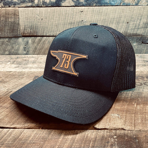 products/hand-made-leather-black-trucker-snapback-73-forge-leather-patch-hat-17358783873179.jpg