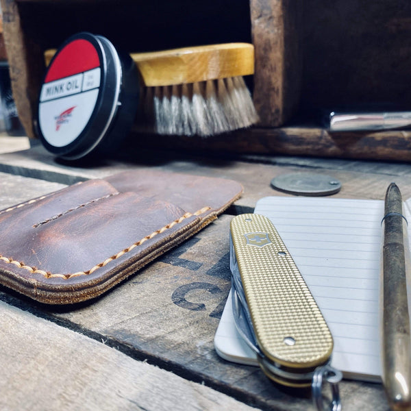 EDC Micro Journal Wallet - Red Wing Boot Leather - Hand-Made Leather Goods