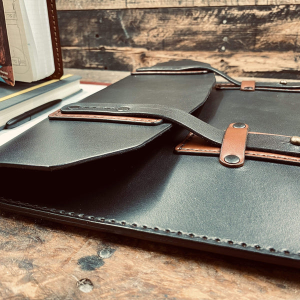 English Bridle - Excursion Portfolio / Clutch - Hand-Made Leather Goods