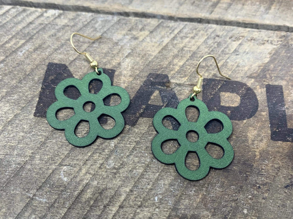 """Flower D"" Earrings - Mapleton Road"