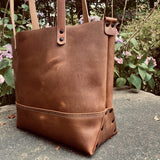 Large Tote In Brown Buffalo - Mapleton Road