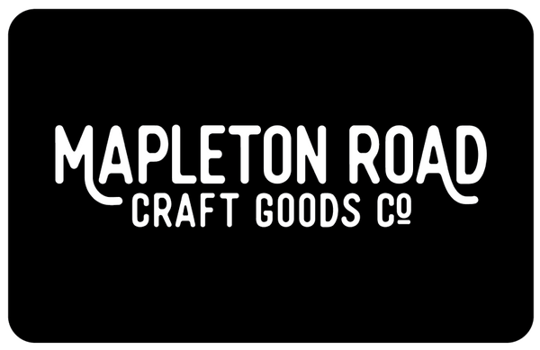 Mapleton Road Gift Card - Hand-Made Leather Goods