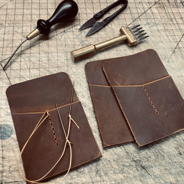 Micro Journal Wallet - Sequoia Russet Gold - Hand-Made Leather Goods