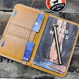 Money Clip Wallet / Venture Notebook Set - Sequoia Russet Gold - Hand-Made Leather Goods