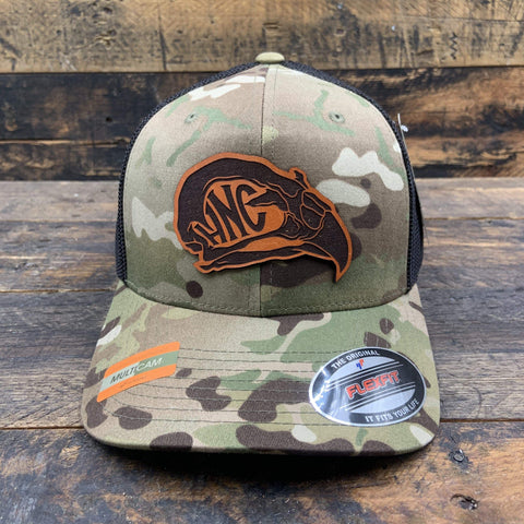 products/hand-made-leather-multicam-trucker-flex-fit-hawk-s-nest-head-leather-patch-logo-hat-14435660136548.jpg