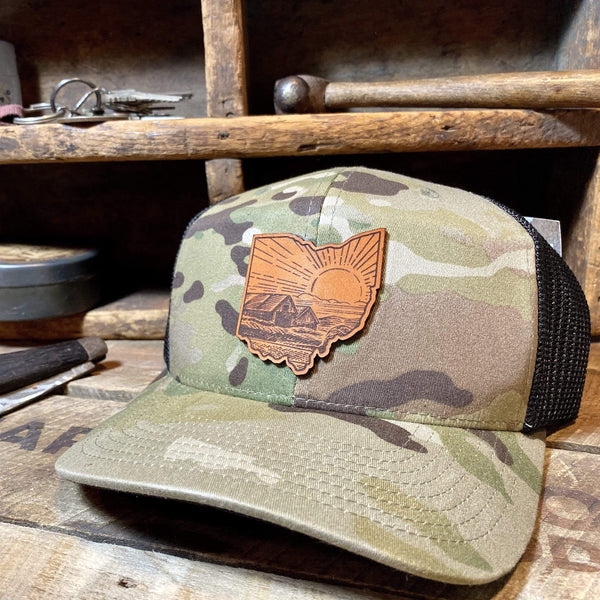 Ohio Heritage Hat - Farm Roads - Hand-Made Leather Goods