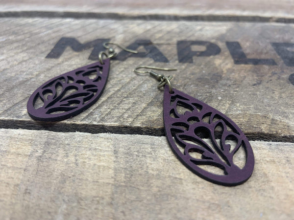"""Bloom"" Earrings - Hand-Made Leather Goods"