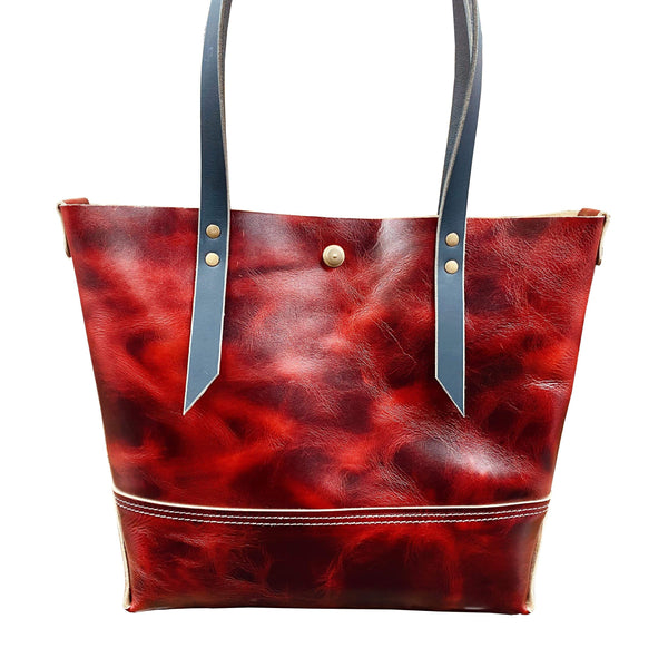 The New Red Tote - Hand-Made Leather Goods