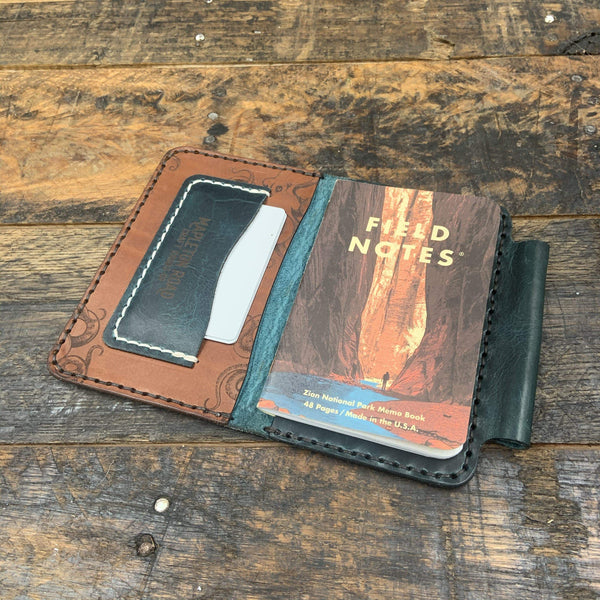 Zion - Kraken Field Notes Book - Hand-Made Leather Goods