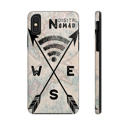 Digital Nomad World Map Phone Case