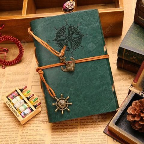 Retro Luxurious Pirate Style Leather Cover Paper Notepad