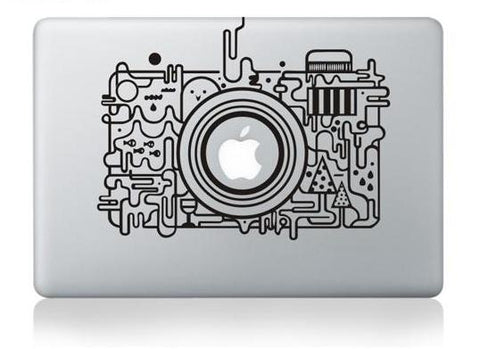 Abstract Camera Design MacBook Decal for Photographers & Digital Nomads