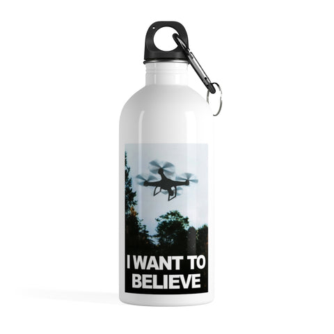 I Want to Believe X Files Drone Pilot's Stainless Steel Water Bottle