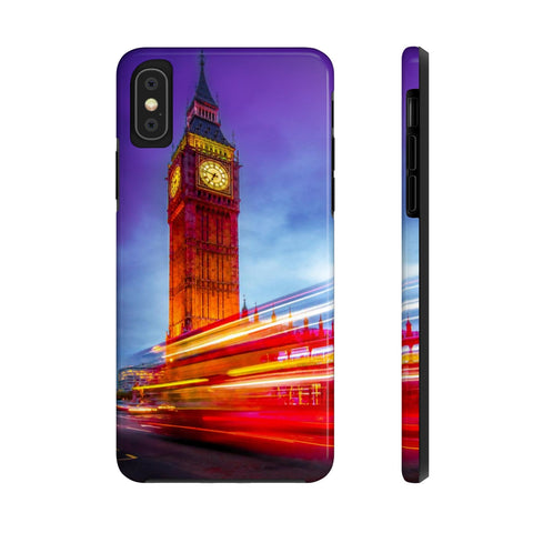 London Big Ben with Red Bus Case Mate Tough Phone Cases