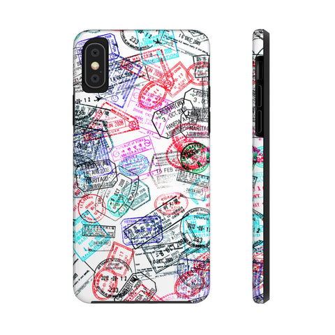 Passport Stamps Case Mate Tough Phone Case