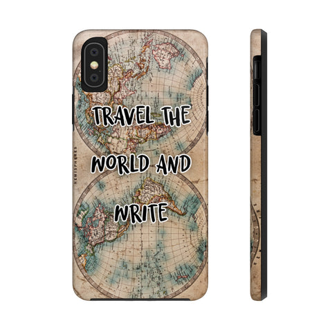 Travel the World & Write Travel Writer's Colour Antique Map of the World Case Mate Tough Phone Case