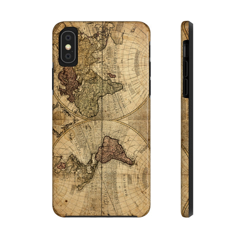 Full Antique Map of the World Case Mate Tough Phone Case