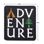 Adventure Tent Pine Tree Explorer Mountain Hiking Traveling Camping Adventure patch Embroidery