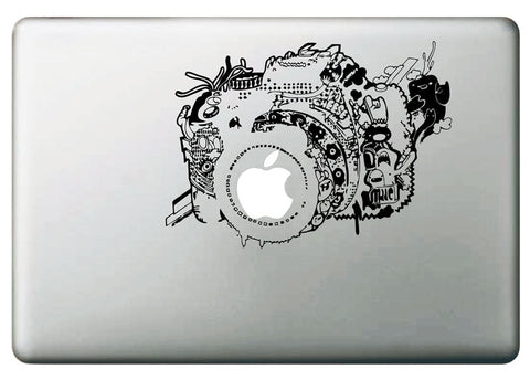 Unique Vintage Camera MacBook Decal for Photographers