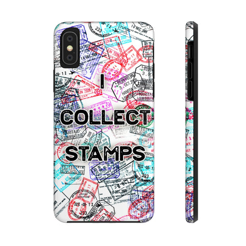 I Collect Stamps Passport Stamps Case Mate Tough Phone Case