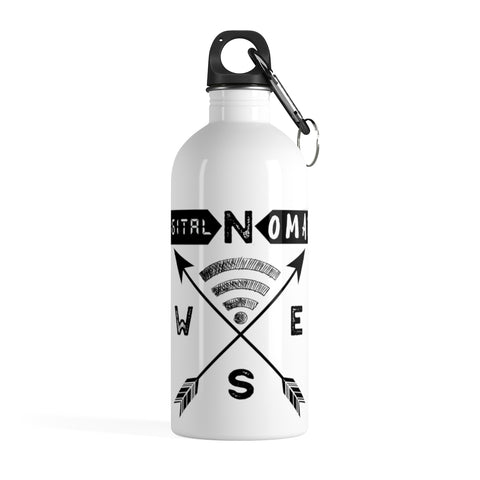 Digital Nomad Compass Stainless Steel Water Bottle